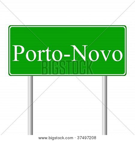 Porto-Novo green road sign