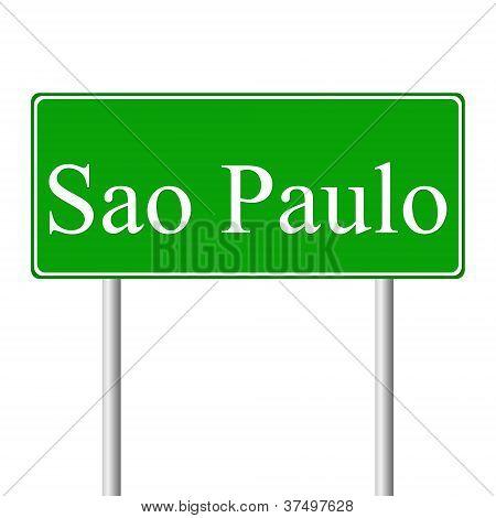 Sao Paulogreen road sign