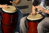 stock photo of congas  - Conga Drums being played during a street festival - JPG