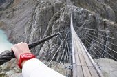 pic of mountain chain  - Trift Bridge - JPG