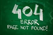 foto of not found  - 404 error page not found  - JPG