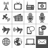 Media Icons. Each icon is a single object (compound path)