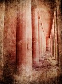 foto of hatshepsut  - Image of Hatshepsut temple in grunge style - JPG