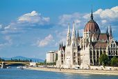 stock photo of hungarian  - The building of the Parliament in Budapest - JPG