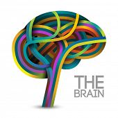 picture of psychology  - Creative concept of the brain - JPG