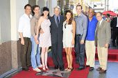 LOS ANGELES - OCT 1: Mark Harmon, NCIS cast, Cote De Pablo, Pauley Perrette, Michael Weatherly at a