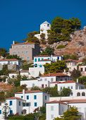 picture of hydra  - View of a picturesque village on the Greek island of Hydra - JPG