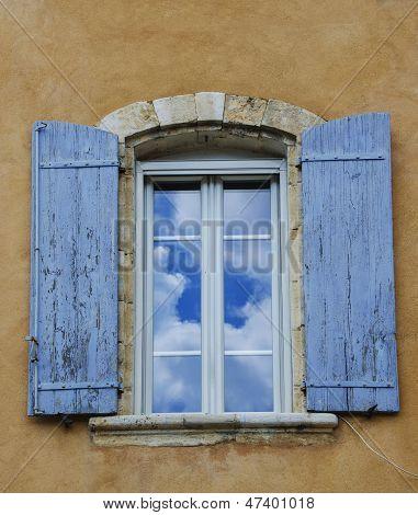 Cloud Reflection In A Window