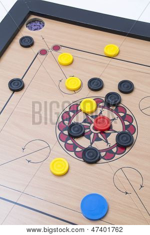 shooting the carrom coin