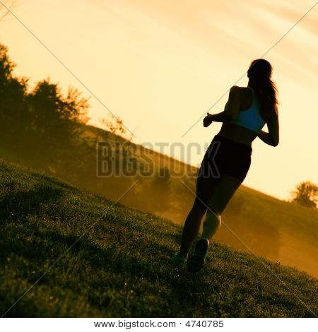 Beautiful Woman Runner
