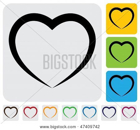 Abstract Human Heart(love) Icon(symbol)- Simple Vector Graphic