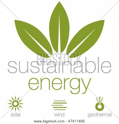 An image of a sustainable energy symbols.
