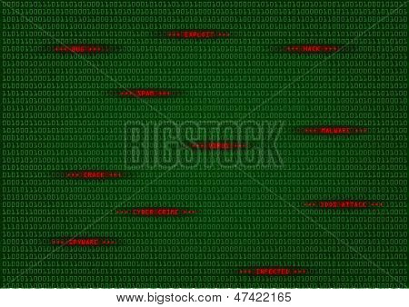 detailed illustration of a computer virus detection, spyware concept