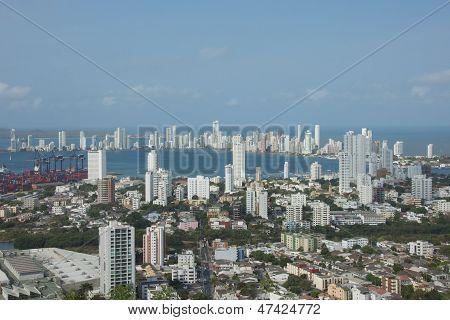 Cartagena Bay in Colombia