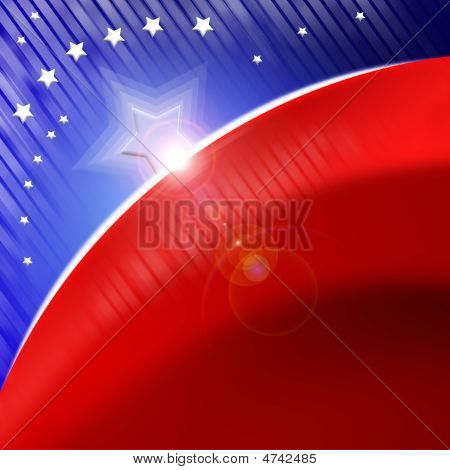 American Flag Stylized Background