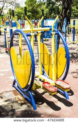 Colorful Exercise Machines