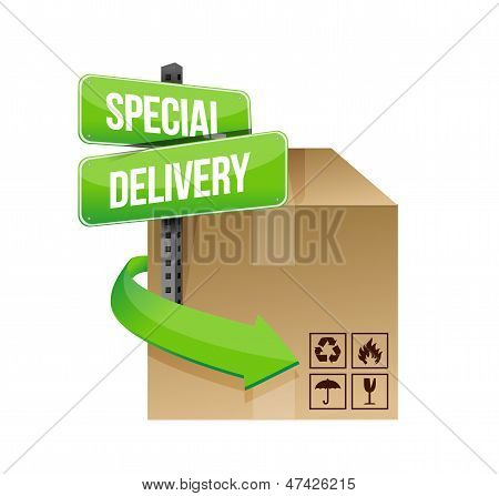 Special Delivery Concept Sign