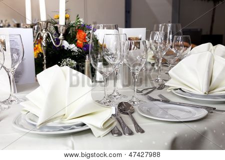 Stylish White Table Setting