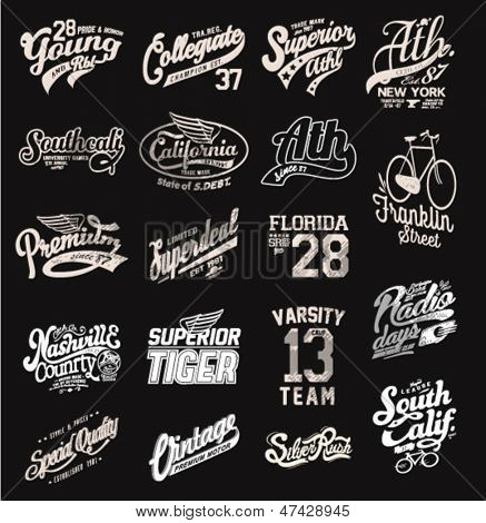 Retro vintage labels for printing