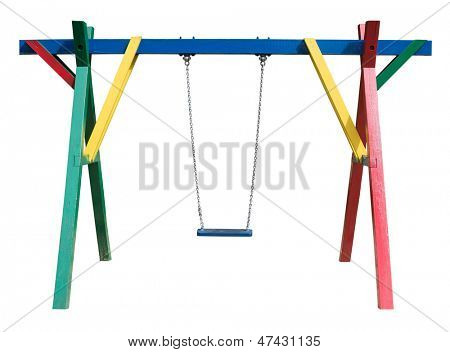 Swing isolated on white background