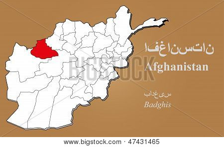 Afghanistan Badghis Highlighted