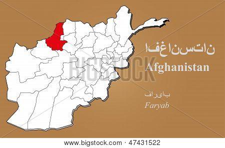 Afghanistan Faryab Highlighted