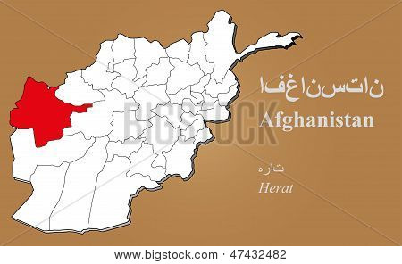 Afghanistan Herat Highlighted