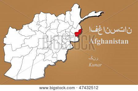 Afghanistan Kunar Highlighted