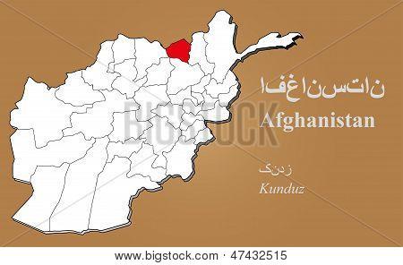 Afghanistan Kunduz Highlighted