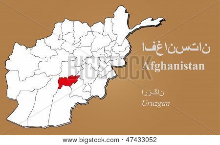 Afghanistan Uruzgan Highlighted