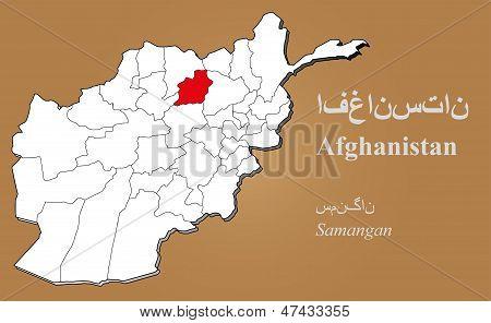 Afghanistan Samangan Highlighted