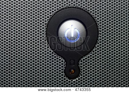 Power Button In Perforated Metal
