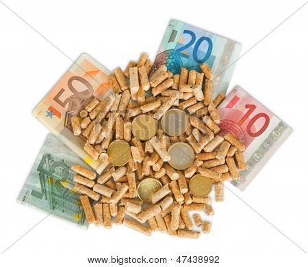 Wood Pellets With Money