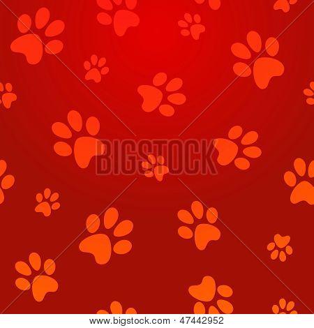 Patrón de huellas de perro