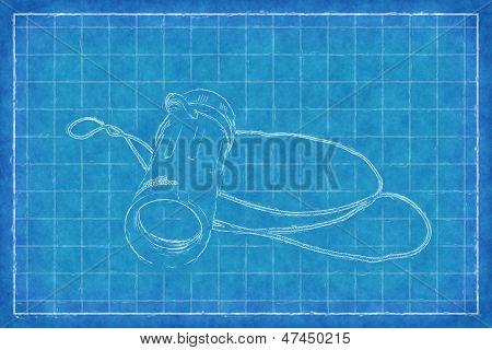 Military monocular - Blue Print