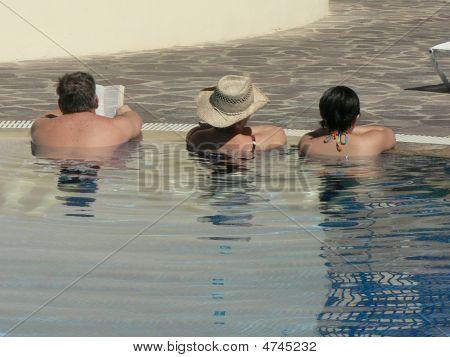 Three Seniors Reading