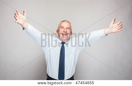 Happy Senior Businessman
