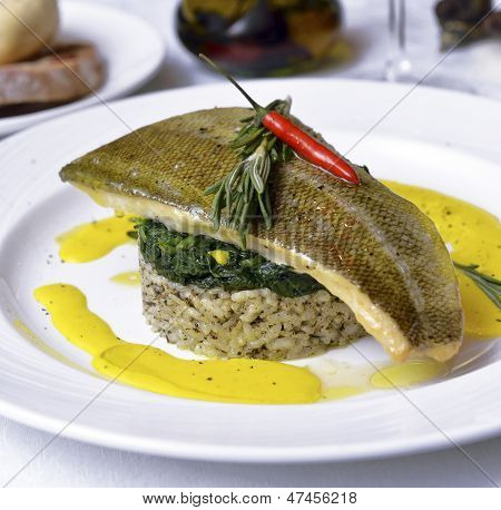 Seabass Fish On The Counter