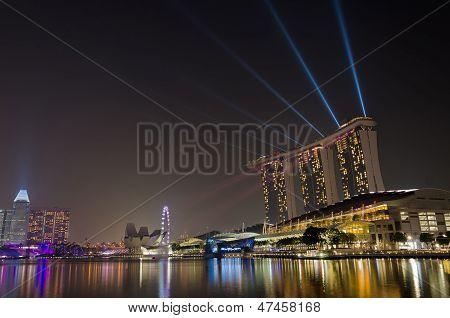 Laser show at Marina Bay