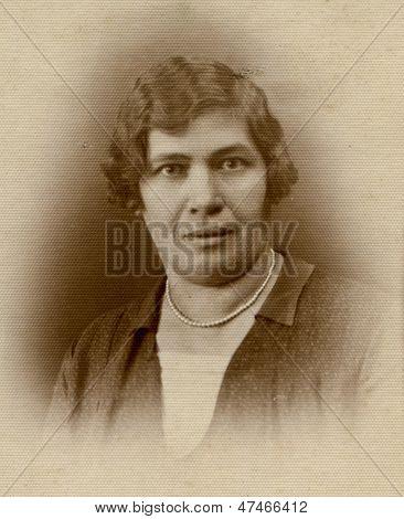 RUSSIA, CIRCA 1910 - vintage portrait of unidentified woman, Russia, circa 1910