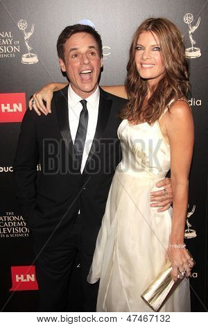 BEVERLY HILLS - JUN 16: Christian LeBlanc, Michelle Stafford at the 40th Annual Daytime Emmy Awards at The Beverly Hilton Hotel on June 16, 2013 in Beverly Hills, California