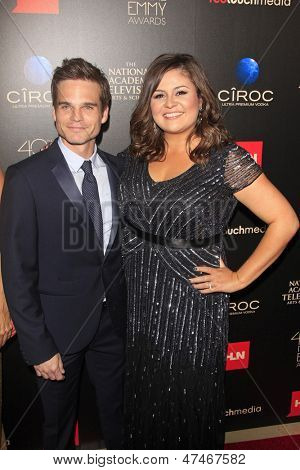 BEVERLY HILLS - JUN 16: Greg Rikaart, Angelica McDaniel at the 40th Annual Daytime Emmy Awards at The Beverly Hilton Hotel on June 16, 2013 in Beverly Hills, California