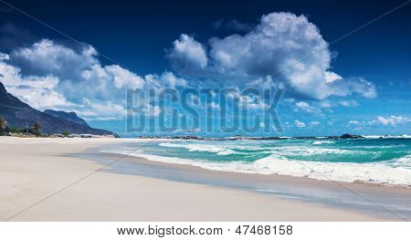 Clifton beach, Cape Town, South Africa, paradise beach, luxury tropical resort, panoramic seascape, sunny day, summer holiday and vacation concept