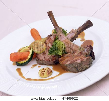 Lamb Shank With Vegetables
