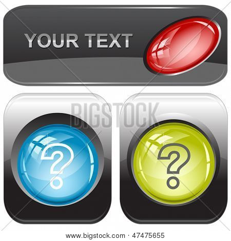 Query. Vector internet buttons.