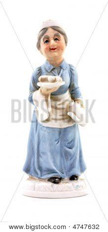 Elderly Nurse Figurine