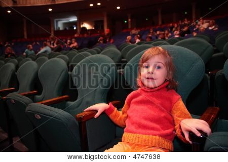 Little Girl In Theater