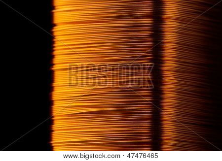 Rolled copper wire of electrical transformer