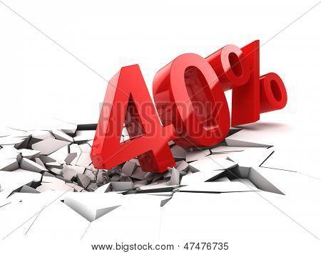 40 percent discount breaks ground