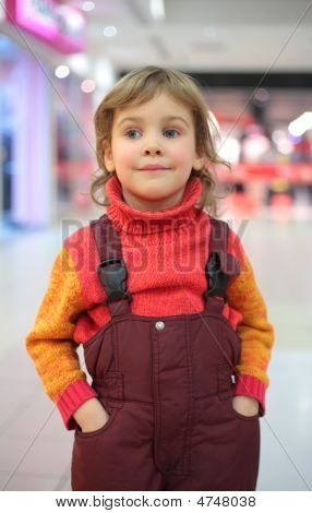 Portrait Of Little Girl In Shop